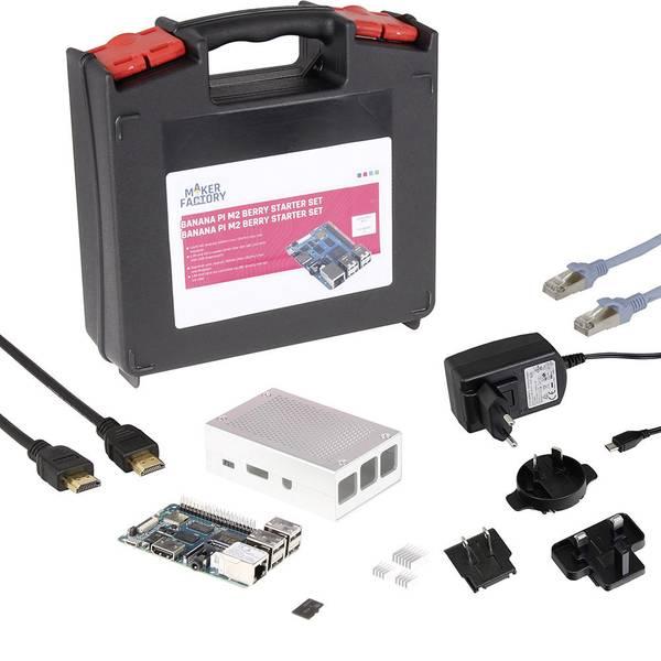 Schede di sviluppo e Single Board Computer - Banana Pi BPI-M2 Berry MF-BPI-M2 Berry Set 1 GB 4 x 1.20 GHz incl. cavo di alimentazione, incl. custodia, incl.  -