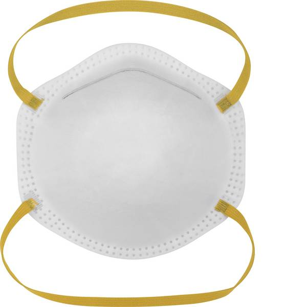 Maschere per polveri fini - Mascherina antipolvere senza valvola FFP1 Basetech BT-1675021 20 pz. -