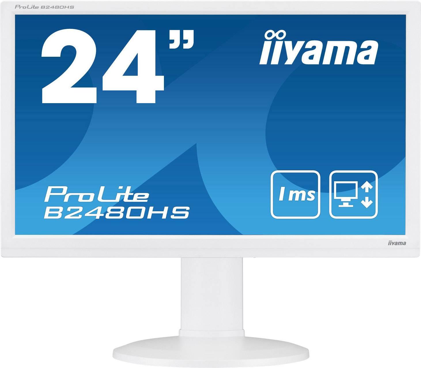 Iiyama B2480HS-W2 Monitor LED 59.9 cm (23.6 pollici) Classe energetica A (A+ - F) 1920 x 1080 Pixel Full HD 1 ms HDMI ™,