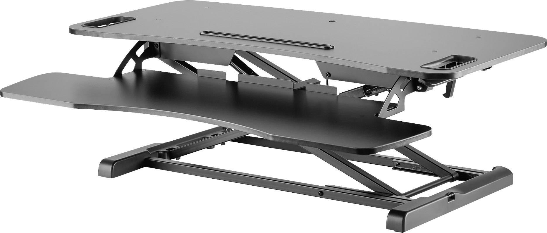 Postazione di lavoro per postura seduta ed eretta Digitus DA-90380-1 Range di altezza: 100 fino a 500 mm Nero