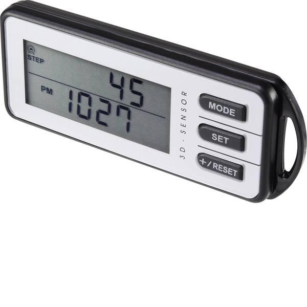 Contapassi - Basetech PDG001 Pedometro Bianco, Nero -