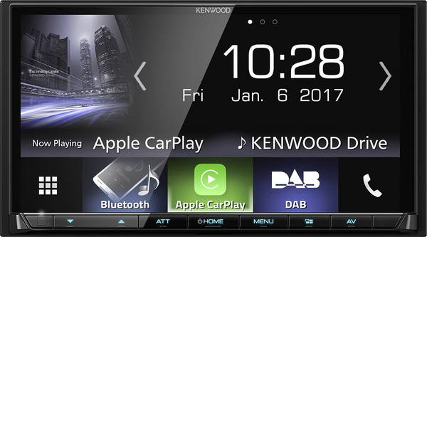 Autoradio e Monitor multimediali - Kenwood DMX7017DABS Moniceiver doppio DIN Collegamento per controllo remoto da volante, Collegamento per telecamera  -