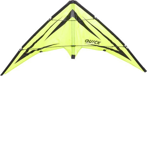 Aquiloni sportivi - Aquilone acrobatico Ecoline Quick Emerald Larghezza estensione 1150 mm Intensità forza del vento 2 - 5 bft -