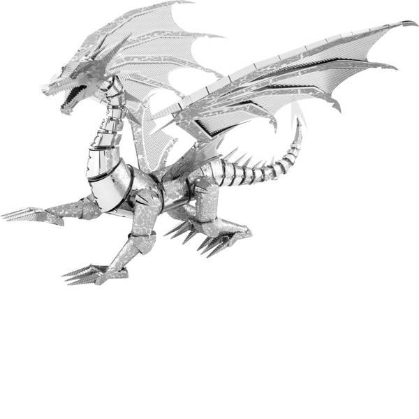 Kit di montaggio Metal Earth - Kit di metallo Metal Earth Iconx Silver Dragon -