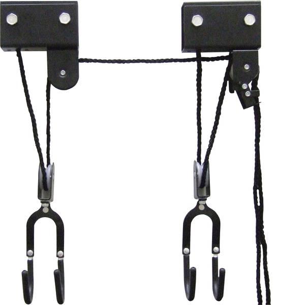 Supporti e cavalletti per biciclette - 1692277 Sollevatore a soffitto Numero posti parcheggio=1 Nero -