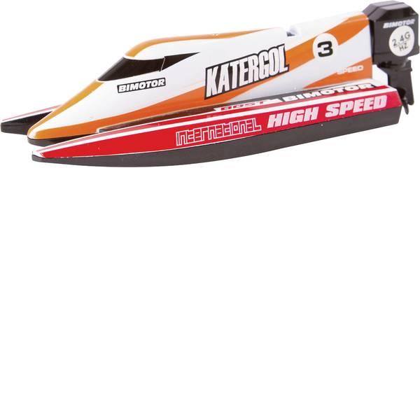 Barche telecomandate - Invento Mini Race Boat Red Barca a motore per principianti RtR 140 mm -
