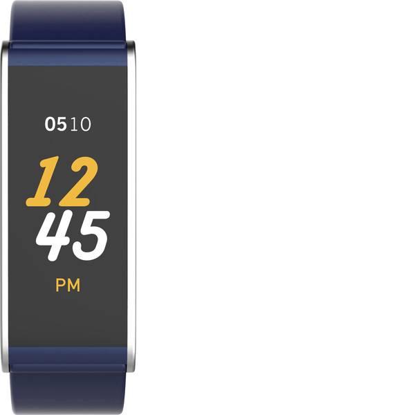 Dispositivi indossabili - Fitness Tracker MyKronoz ZEFIT4 Col. corpo: Blu Colore (braccialetto): Argento -