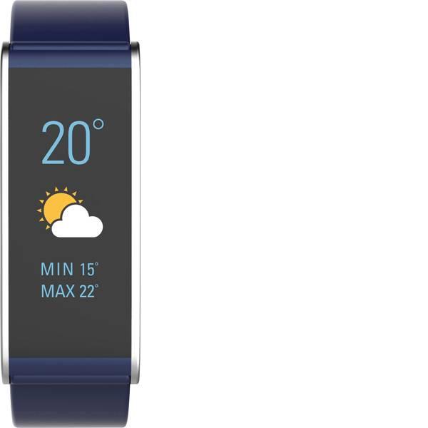 Dispositivi indossabili - Fitness Tracker MyKronoz ZEFIT4 HR Col. corpo: Blu Colore (braccialetto): Argento -