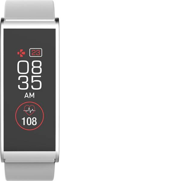 Dispositivi indossabili - Fitness Tracker MyKronoz ZEFIT4 HR Col. corpo: Bianco Colore (braccialetto): Argento -