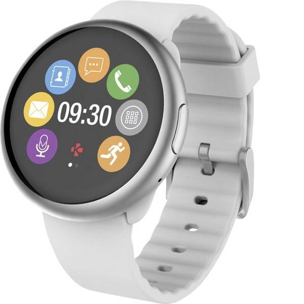 Dispositivi indossabili - Smartwatch MyKronoz ZEROUND2 Col. corpo: Argento Colore (braccialetto): Bianco -