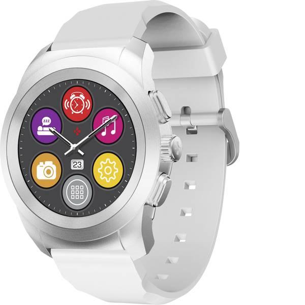 Dispositivi indossabili - Smartwatch MyKronoz ZETIME ORIGINAL PETITE Col. corpo: Argento Colore (braccialetto): Bianco -