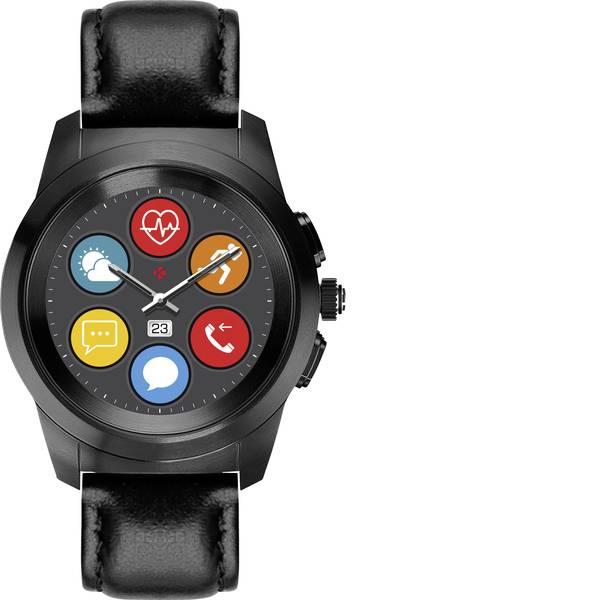 Dispositivi indossabili - Smartwatch MyKronoz ZETIME PREMIUM PETITE Col. corpo: Titanio Colore (braccialetto): Nero -