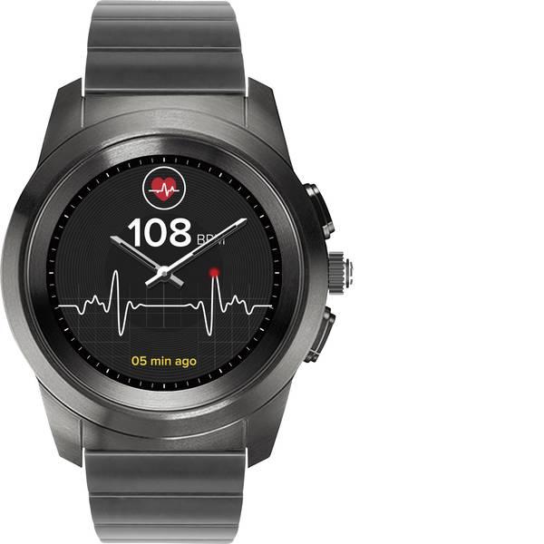 Dispositivi indossabili - Smartwatch MyKronoz ZETIME ELITE REGULAR Col. corpo: Nero/acciaio inox Colore (braccialetto): Argento -