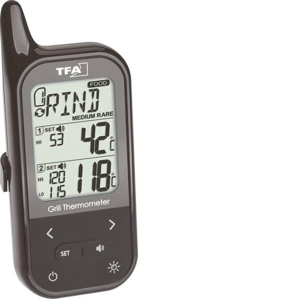 Termometri per la cucina - TFA 14.1511.01 Termometro per Grill Allarme, Cavo sensore, Temperatura forno e nucleo -