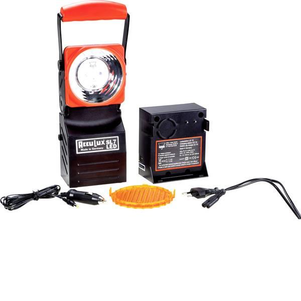 Torce con batterie ricaricabili - AccuLux 456641 Lampada da lavoro SL 7 LED Nero, Rosso LED 5 h -