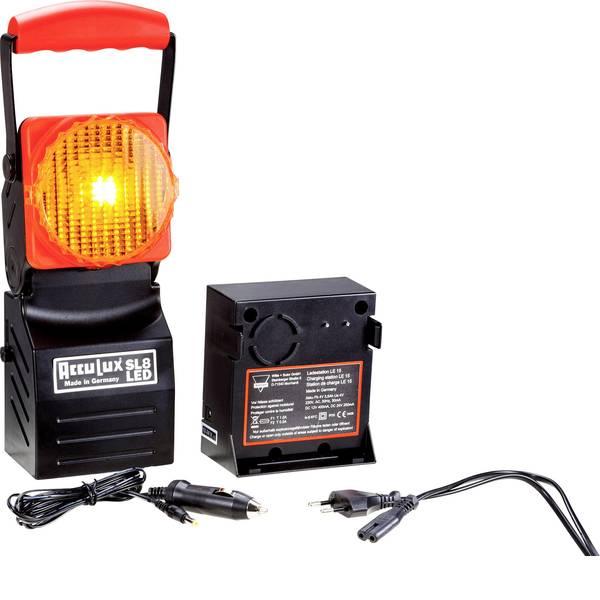 Torce con batterie ricaricabili - AccuLux 456741 Lampada da lavoro SL 8 LED Nero, Rosso LED 5 h -