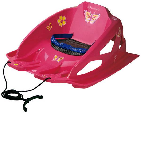 Slittini e Bob - Slittino plastica Alpengaudi AlpenBambino Peso totale ammissibile 20 kg Rosa -