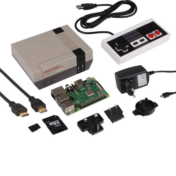 Schede di sviluppo e Single Board Computer - Raspberry Pi® 3 B+ NES Raspberry Set 1 GB 4 x 1.4 GHz incl. controller, incl. custodia, incl. cavo di alimentazione,  -