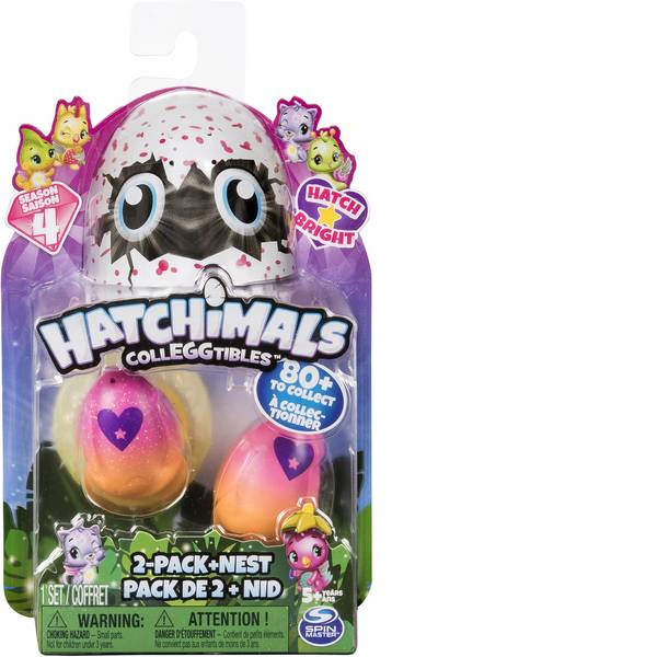 Animali di peluche - Spin Master Hatchimals Colleggtibles 2 pezzi + Nest -