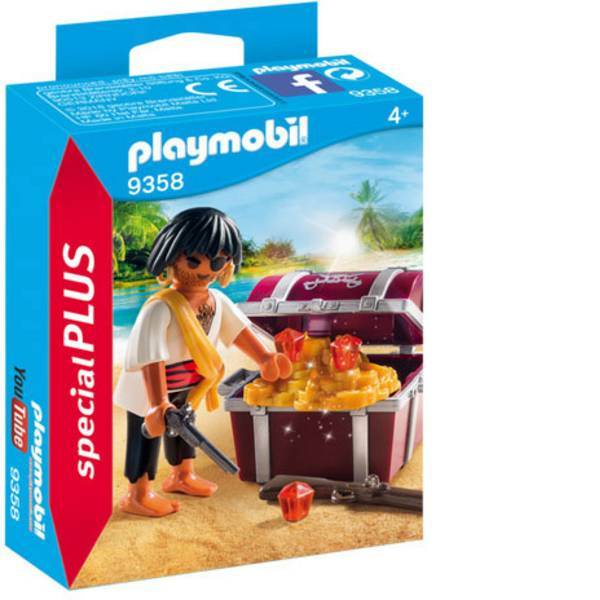Personaggi da gioco - Play mobile pirata con scatola del tesoro -