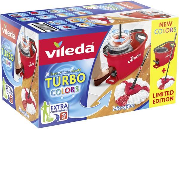 Pulizia dei pavimenti e accessori - Turbo Vileda Easy Wring & Clean kit completo con testina pulente e supporto per manico 158722 -