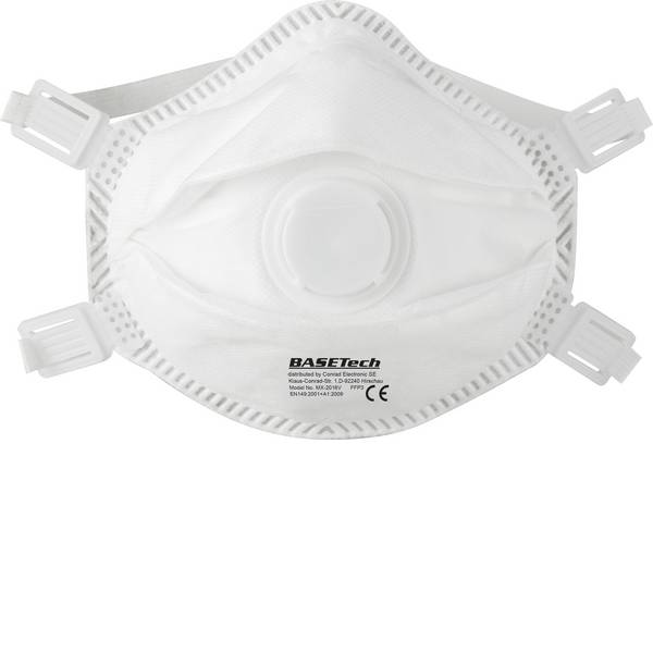 Maschere per polveri fini - Mascherina antipolvere con valvola FFP3 Basetech BT-1715162 10 pz. -