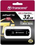 Chiavetta USB Transcend JetFlash™ 750K 32GB USB 3.0 nero