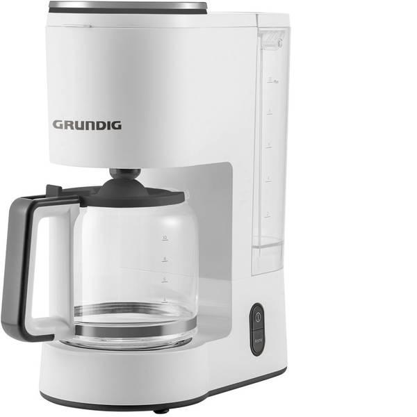 Macchine dal caffè con filtro - Grundig KM 5860 Macchina per il caffè Bianco, Nero Capacità tazze=10 Caraffa in vetro, Funzione mantenimento calore -