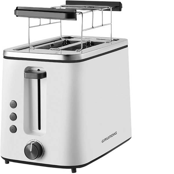 Tostapane - Grundig TA 5860 Tostapane Con griglia scaldabriosche Bianco, Nero -