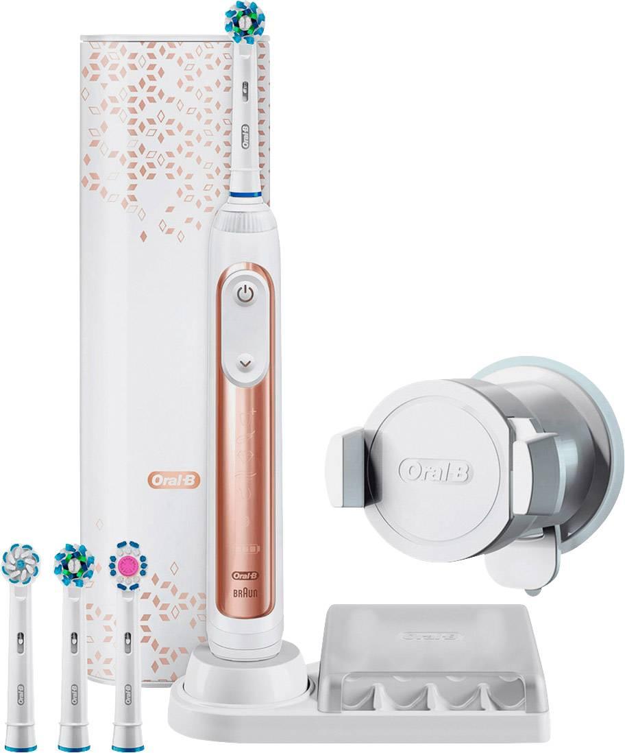 Bluetooth USB-astuccio da viaggio Oral-B GENIUS 9000s Oro Rosa Spazzolino Elettrico Incl