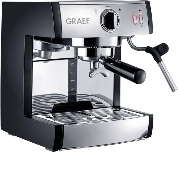 Macchine per caffè espresso - Macchina caffè a filtri Graef ES702EU01 Acciaio, Nero 1410 W con sistema di erogazione a pressione, Con ugello  -