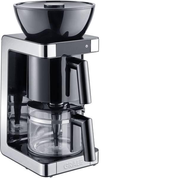 Macchine dal caffè con filtro - Graef FK702EU Macchina per il caffè Nero, Acciaio Capacità tazze=10 Caraffa in vetro, Funzione mantenimento calore -
