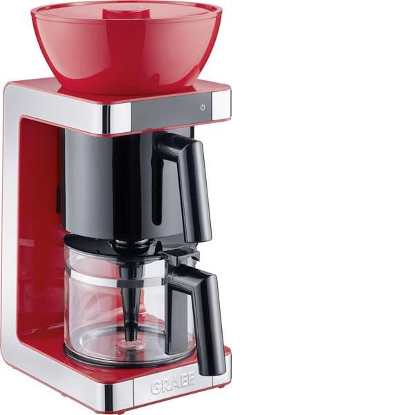 Macchine dal caffè con filtro - Graef FK703EU Macchina per il caffè Rosso, Acciaio Capacità tazze=10 Caraffa in vetro, Funzione mantenimento calore -