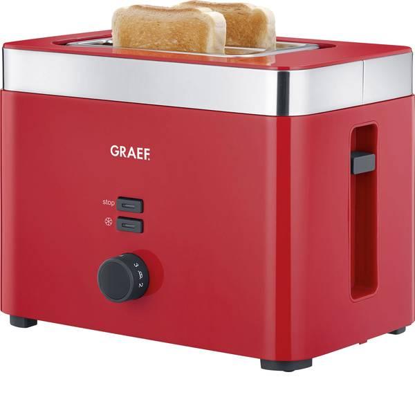Tostapane - Graef TO63EU Tostapane Con griglia scaldabriosche Rosso, Acciaio -