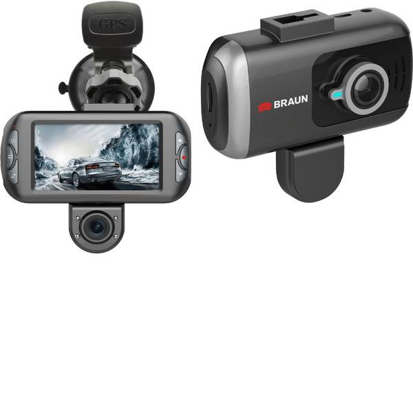 Dashcam - Braun Germany B-Box T7 Dashcam con GPS Max. angolo di visuale orizzontale=170 ° Microfono -