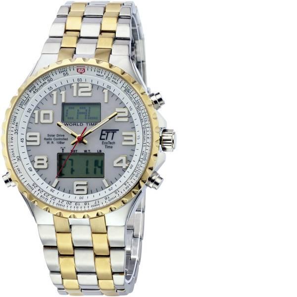Orologi da polso - Radiocontrollato, Solare Cronografo EGS-11329-82M (Ø x A) 45 mm x 14 mm Argento, Oro Materiale cassa=Acciaio inox  -