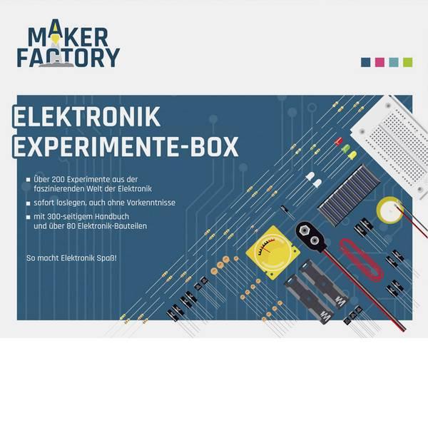 Kit esperimenti e pacchetti di apprendimento - Scatola per esperimenti MAKERFACTORY 150387 MF Elektronik-Experimente-Box -