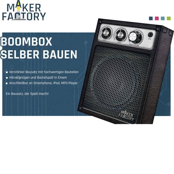 Kit esperimenti e pacchetti di apprendimento - Kit da costruire MAKERFACTORY 150394 MF Boom-Box-Bausatz -