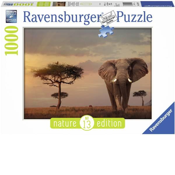 Puzzle - Ravensburger Puzzle - Elefante in Masai Mara Parco Nazionale -