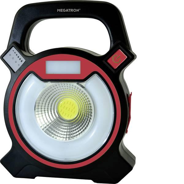 Torce con batterie ricaricabili - Megatron MT69050 Lampada portatile a batteria Helfa Nero, Rosso LED -
