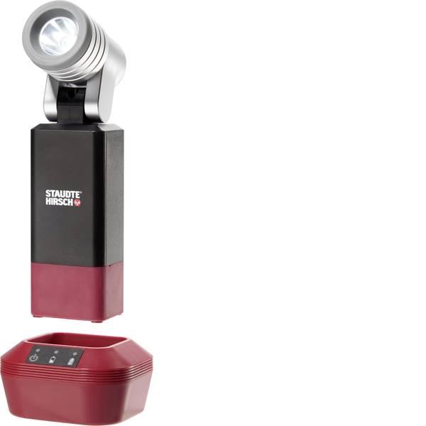 Torce con batterie ricaricabili - Staudte-Hirsch 553000 Lampada portatile a batteria SH-5.300 Nero, Rosso, Argento LED 9 h -