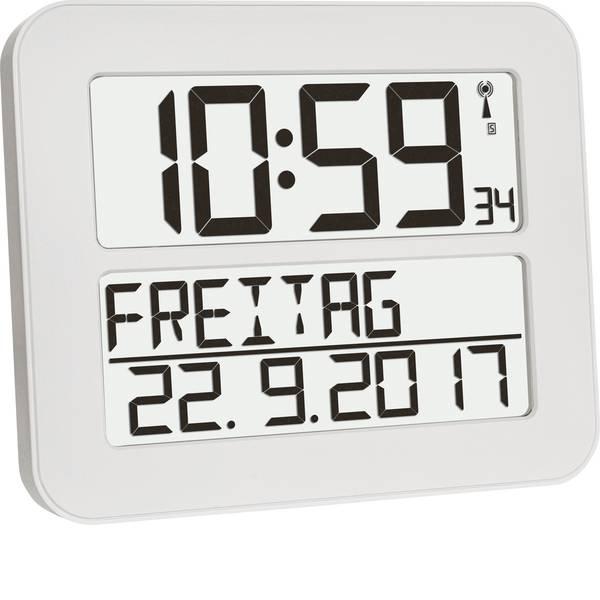 Orologi da parete - TFA 60.4512.02 Radiocontrollato Orologio da parete 258 mm x 212 mm x 30 mm Bianco, Nero Display grande -