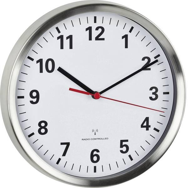 Orologi da parete - TFA 60.3529.02 Radiocontrollato Orologio da parete 22 cm x 4.5 cm Alluminio Movimento silenzioso (senza scatti),  -