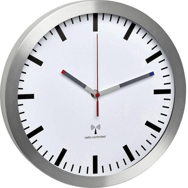 Orologi da parete - TFA 60.3528.02 Radiocontrollato Orologio da parete 300 mm x 45 mm Alluminio Movimento silenzioso (senza scatti) -