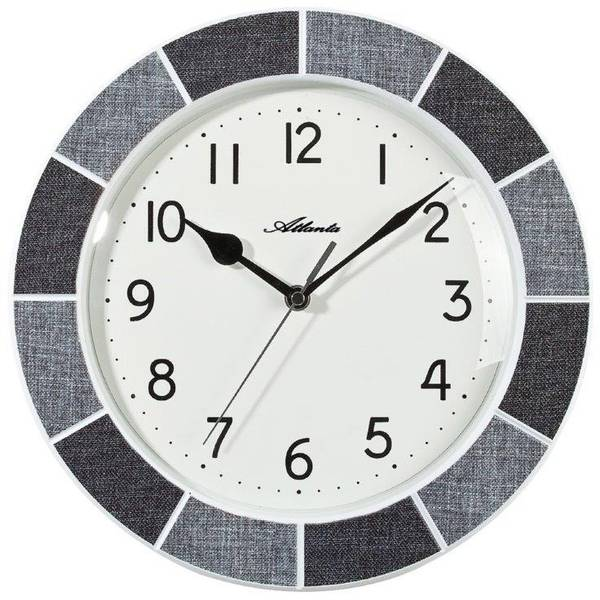 Orologi da parete - Atlanta Uhren 6126/4 Quarzo Orologio da parete 300 mm Grigio -