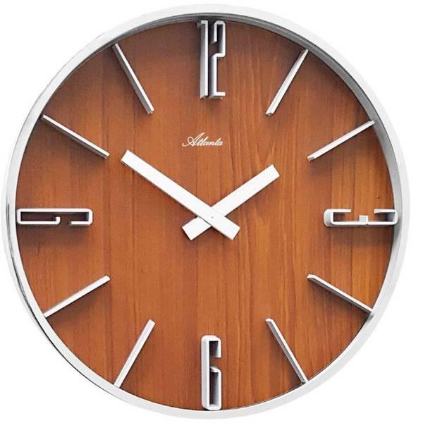 Orologi da parete - Atlanta Uhren 4426/20 Quarzo Orologio da parete 300 mm x 60 mm Argento -