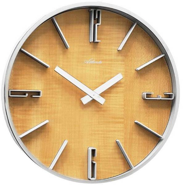 Orologi da parete - Atlanta Uhren 4426/30 Quarzo Orologio da parete 300 mm x 60 mm Argento -