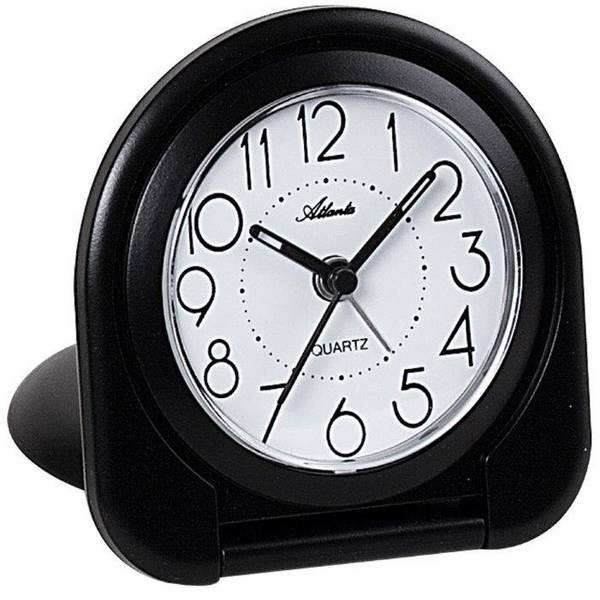 Sveglie - Atlanta Uhren 1909/7 Quarzo Sveglia Nero -