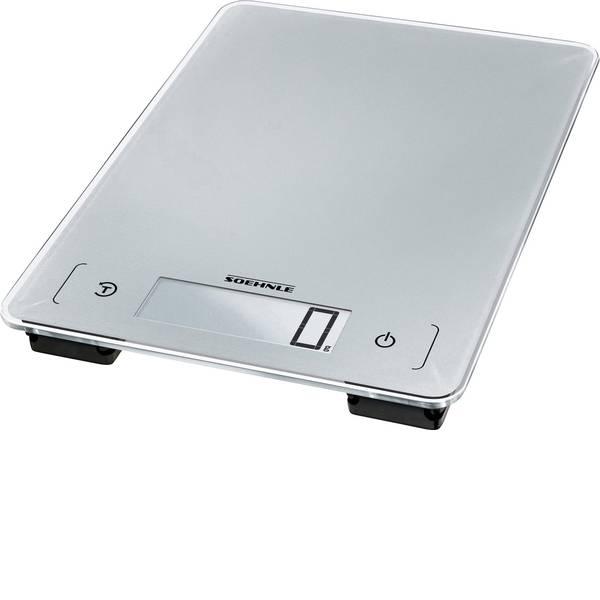 Bilance da cucina - Soehnle KWD Page Aqua Proof Bilancia da cucina digitale Portata max.=10 kg Grigio-Argento -