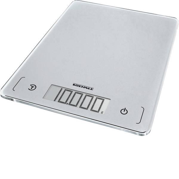 Bilance da cucina - Soehnle KWD Page Comfort 300 Slim Bilancia da cucina digitale Portata max.=10 kg Grigio-Argento -